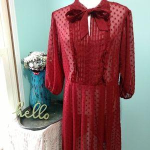 A New Day Burgundy Dress Size L
